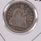 1840 Seated Liberty Dime. With Drape, Circulated Coin. Store #0562.