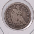 1840 Seated Liberty Dime. No Drape, Circulated Coin. Store #0566.