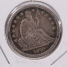 1840-O Seated Liberty Dime. No Drape, Large O, Circulated Coin. Store #0568.