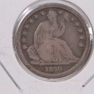 1840-O Seated Liberty Dime. MED O, Circulated Coin. Store #0572.