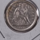 1841 Seated Liberty Dime. Nice UN-Circulated Coin. Store #0576.