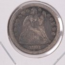 1841-O Seated Liberty Dime. Nice Circulated Coin. Store #0578.