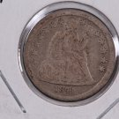 1841-O Seated Liberty Dime. Circulated Coin. Store #0580.