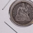 1842-O Seated Liberty Dime. Circulated Coin. Store #0562.