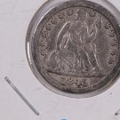 1845 Seated Liberty Dime. Re-engraved 5, Circulated Coin. Store #0602.