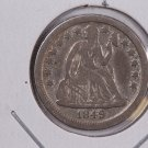 1849-O Seated Liberty Dime, Circulated Coin. Store #0614.