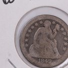 1849-O Seated Liberty Dime, Micro O, Circulated Coin. Store #0618.