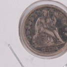 1850 Seated Liberty Dime,  Circulated Coin. Store #0622.