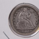 1850 Seated Liberty Dime,  X.F. Circulated Coin. Store #0626.