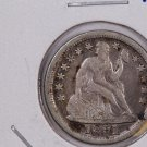 1851 Seated Liberty Dime,  X.F. Circulated Coin. Store #0628.