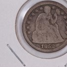 1852 Seated Liberty Dime,  Circulated Coin. Store #0632.