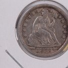 1853 Seated Liberty Dime,  Circulated Coin. Store #0640.