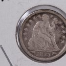 1853-O Seated Liberty Dime,  Circulated Coin. Store #0642.