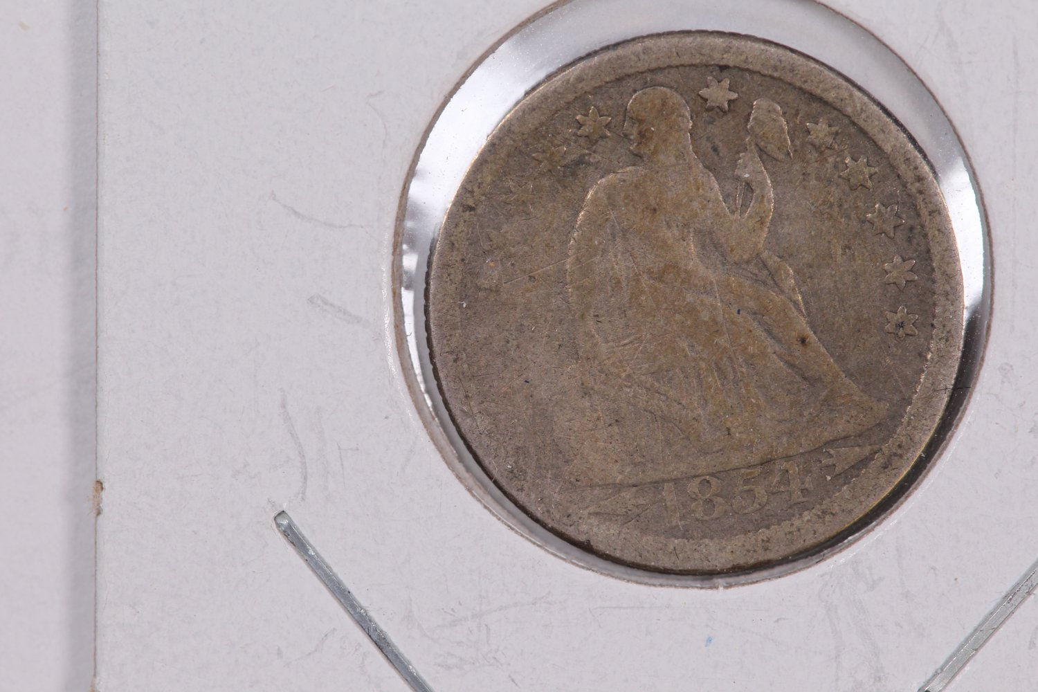 1854-O Seated Liberty Dime,  Circulated Coin. Store #0651.