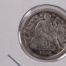 1856 Seated Liberty Dime,  Small Date. Circulated Coin. Store #0657.