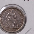 1856 Seated Liberty Dime,  Re-Punched Small Date. A.U. Circulated Coin. Store #0661.