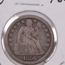 1856 Seated Liberty Dime,  Large Date. Die-4, Circulated Coin. Store #0673.