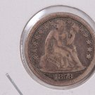 1858 Seated Liberty Dime,  Circulated Coin. Store #0695.