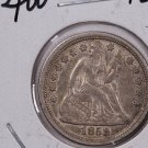 1858-O Seated Liberty Dime,  Choice About UN-Circulated + Coin . Store #0701.