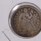 1859-O Seated Liberty Dime,  Fine Circulated Coin . Store #0703.