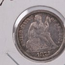 1871  Seated Liberty Dime, Extra Fine, Circulated Coin,  Store #0712