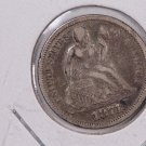 1871  Seated Liberty Dime,  Circulated Coin,  Store #0711