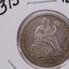 1872-S  Seated Liberty Dime,  Extra Fine, Circulated Coin,  Store #0726.