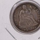 1873 Seated Liberty Dime, Nice Eye Appeal, Circulated Coin.  Store Sale#0738.