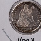 1874-S Seated Liberty Dime, Scarce Date, Nicer Circulated Coin.  Store Sale#0750.