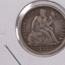 1875-CC Seated Liberty Dime,  Affordable,  Nicer Circulated Coin.  Store Sale#0772.