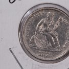 1876 Seated Liberty Dime,  Affordable,  Nicer Circulated Coin.  Store Sale#0776.