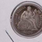 1876 Seated Liberty Dime,  Affordable,  Nicer Circulated Coin.  Store Sale #0786.