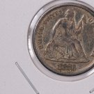1876-CC Seated Liberty Dime,  Affordable,  Nicer Circulated Coin.  Store Sale #0798.