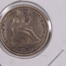 1877-S Seated Liberty Dime,  Affordable,  Nicer Circulated Coin.  Store Sale #0817.