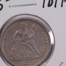 1877-CC Seated Liberty Dime,  Affordable,  Nicer Circulated Coin.  Store Sale #0825.