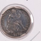 1878-CC Seated Liberty Dime,  Affordable,  Nicer Circulated Coin.  Store Sale #0829.
