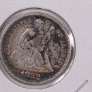 1882 Seated Liberty Dime,  Affordable,  Nicer Circulated Coin.  Store Sale #0831.
