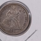 1883 Seated Liberty Dime,  Affordable,  Nicer Circulated Coin.  Store Sale #0835.