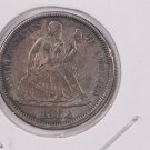 1883 Seated Liberty Dime,  Affordable,  Nicer Circulated Coin.  Store Sale #0837.