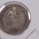 1883 Seated Liberty Dime,  Affordable,  Nicer Circulated Coin.  Store Sale #0839.