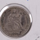 1884 Seated Liberty Dime,  Affordable,  Nicer Circulated Coin.  Store Sale #0841.