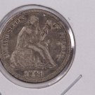 1884 Seated Liberty Dime,  Affordable,  Nicer Circulated Coin.  Store Sale #0845