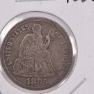 1885 Seated Liberty Dime,  Affordable,  Nicer Circulated Coin.  Store Sale #0847.