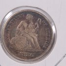 1886 Seated Liberty Dime,  Affordable,  Nicer Circulated Coin.  Store Sale #0851.