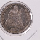 1887 Seated Liberty Dime,  Affordable,  Nicer Circulated Coin.  Store Sale #0861.
