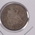 1887-S Seated Liberty Dime,  Affordable,  Nicer Circulated Coin.  Store Sale #0865.