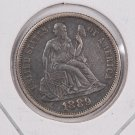 1889 Seated Liberty Dime,  Affordable,  Nicer Circulated Coin.  Store Sale #0875