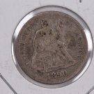 1890 Seated Liberty Dime,  Affordable,  Nicer Circulated Coin.  Store Sale #0883