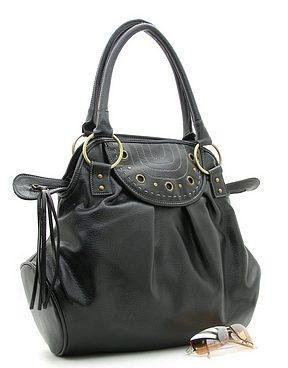 Fun Tall Black Handbag