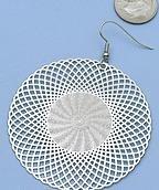 Fun Kaliedascope Silver Dangle Earrings